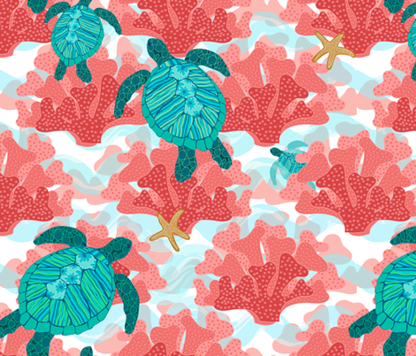 Follow Me Through the Reef! fabric by shellypenko on Spoonflower - custom fabric