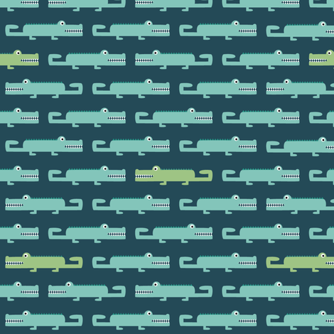 Crocodiles fabric by la_fabriken on Spoonflower - custom fabric