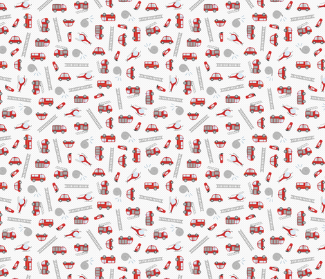 Pompiers fabric by la_fabriken on Spoonflower - custom fabric