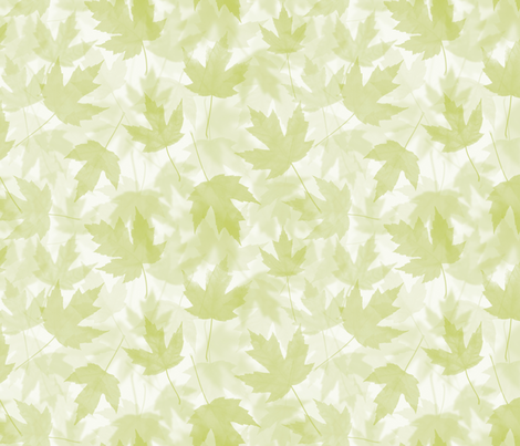 Maple Layers - light green fabric by linkolisa on Spoonflower - custom fabric