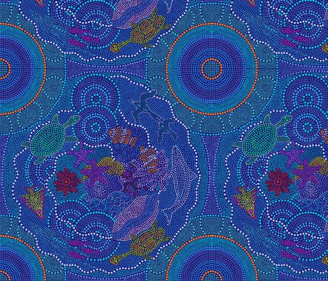 Dreaming the Great Barrier Reef fabric by elramsay on Spoonflower - custom fabric