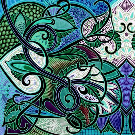 Tropical Safari fabric by edsel2084 on Spoonflower - custom fabric