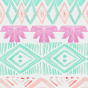 Tribal in Orchid Mint Blush