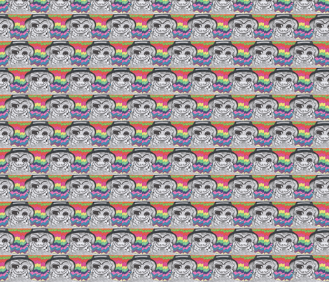 Psychotic_percussionist fabric by jennagerie3 on Spoonflower - custom fabric