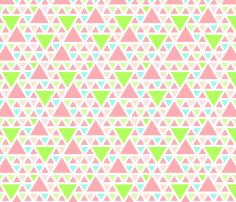 Sorbet Triangles fabric by katebillingsley on Spoonflower - custom fabric