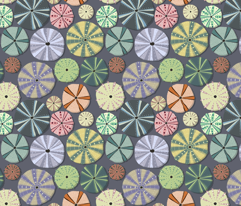 Sea Urchins Simple fabric by crumpetsandcrabsticks on Spoonflower - custom fabric