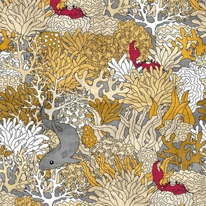 Golden Reef with Shark Linen