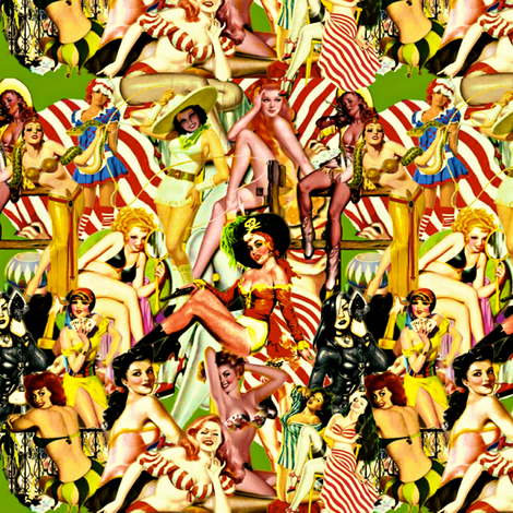 All The Single Ladies  fabric by whimzwhirled on Spoonflower - custom fabric