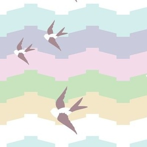 Seaside Love - Pastel Chevron