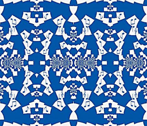 Blue Notes of Jazz fabric by clotilda_warhammer on Spoonflower - custom fabric