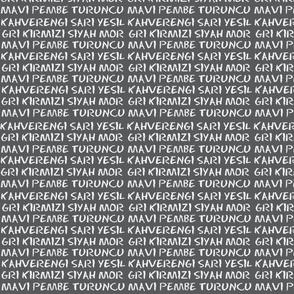 Turkish Colours - blackboard