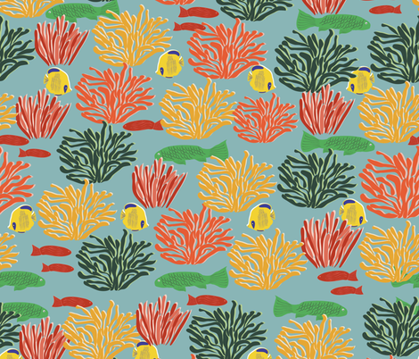 Colourful Reef fabric by madex on Spoonflower - custom fabric