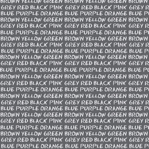 English Colours - blackboard