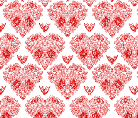 peony fabric by kirpa on Spoonflower - custom fabric