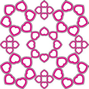 linking hearts pink
