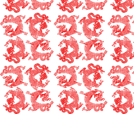 Daughters Favorite Dragons fabric by craftyscientists on Spoonflower - custom fabric