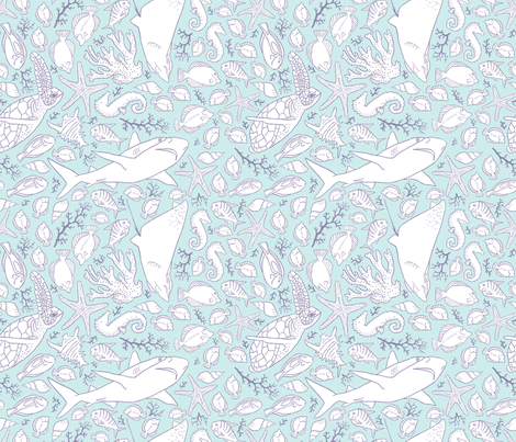 the reef  fabric by pattyryboltdesigns on Spoonflower - custom fabric