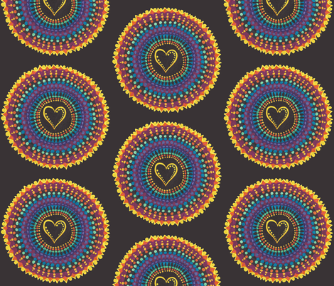 Flaming Heart fabric by joonmoon on Spoonflower - custom fabric