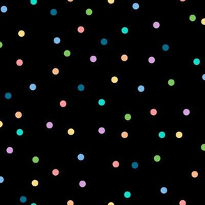 Polka Dots to the Max (Black) || circles geometric baby nursery kids children party confetti retro 80s