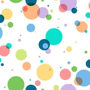 Bubbles to the Max ||  || circles geometric baby nursery kids children party confetti polka dots spring summer