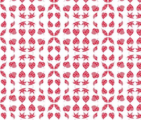 Chinese Paper Cutting Leaves fabric by dovetail_designs on Spoonflower - custom fabric