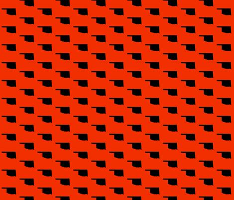 Oklahoma State - Orange fabric by wardandcedar on Spoonflower - custom fabric