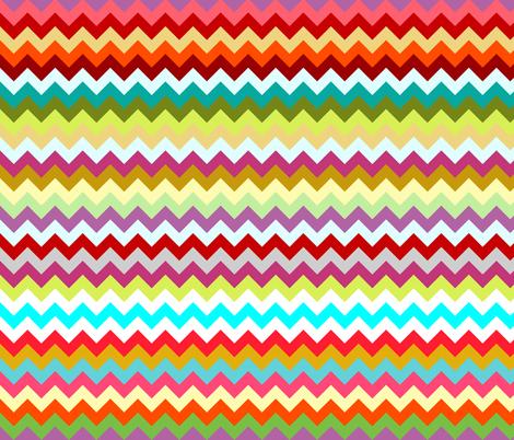 rainbow candy chevron fabric by scrummy on Spoonflower - custom fabric