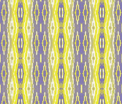 Boho Chickadee Ikat fabric by susaninparis on Spoonflower - custom fabric