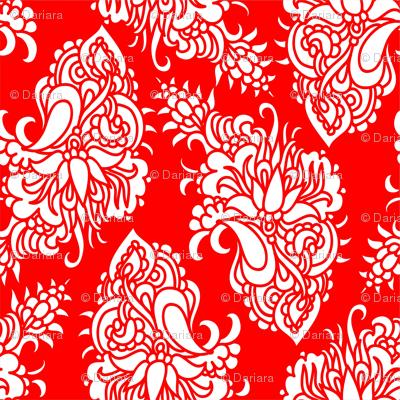 Chinese paisley - cutting design