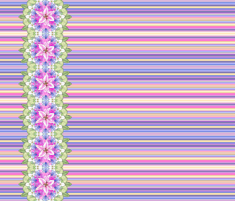 Spring Bouquet Selvage Print fabric by gretchendiehl on Spoonflower - custom fabric