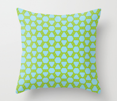 Pastel Green-Blue Freeman Lattice