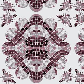 Flower Power Bee Mosaic 2