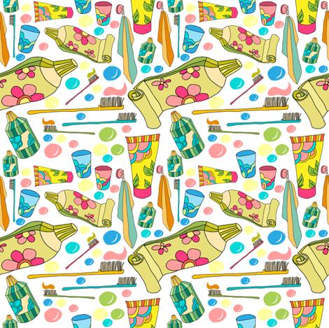 pattern_toothpaste fabric by isamelisa on Spoonflower - custom fabric