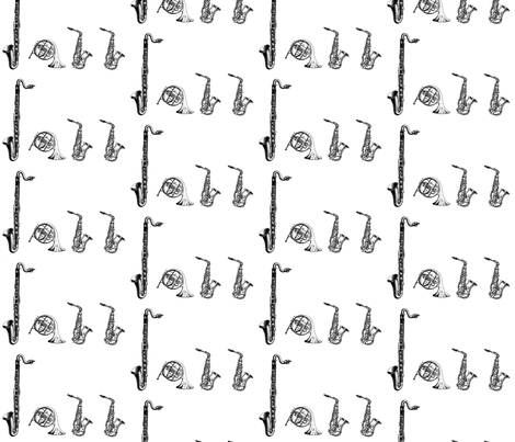 All that Jazz fabric by doryd on Spoonflower - custom fabric