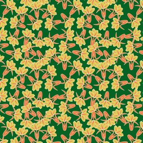field of tulips_seamless_green