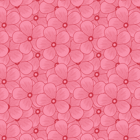 phlox_seamless  fabric by anino on Spoonflower - custom fabric