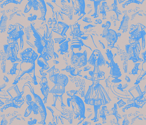 Wonderland's not pretty periwinkle fabric by hollycejeffriess on Spoonflower - custom fabric