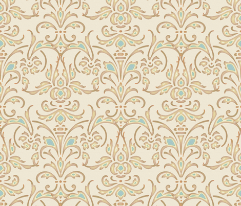 Christina Damask fabric by peacoquettedesigns on Spoonflower - custom fabric