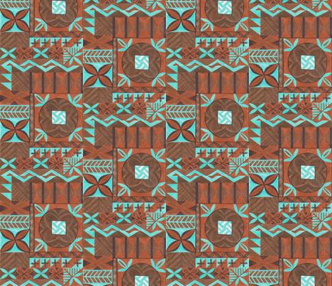 RUGXOTICA tapa 1 fabric by sophista-tiki_by_dawn_frasier on Spoonflower - custom fabric