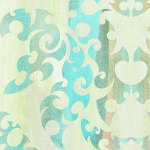 Beach Shack Damask Large