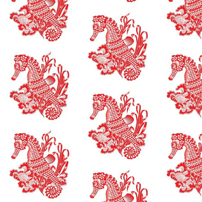 Seahorse Chinese Paper Cutting