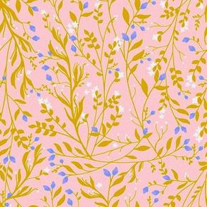 Sari Golden Dusk, Tangled Vines
