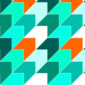 Orange Aqua Arrows