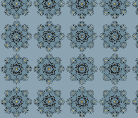 geeky lace grey fabric by spaldilocks on Spoonflower - custom fabric