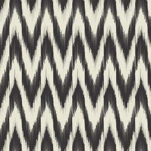 Black & Cream Ikat Waves