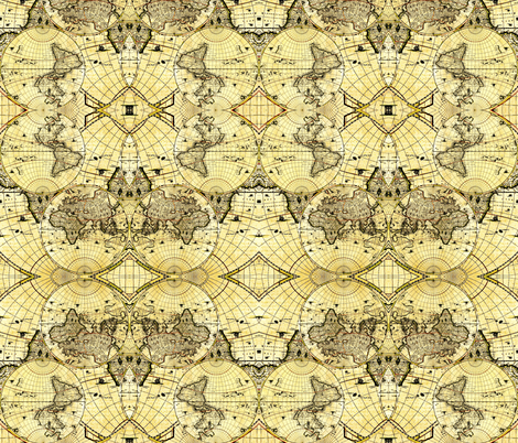 Vintage Maps fabric by whimzwhirled on Spoonflower - custom fabric
