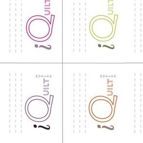 modern quilt label