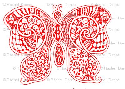 ButterflyFlutterby - xl - true red  - contest