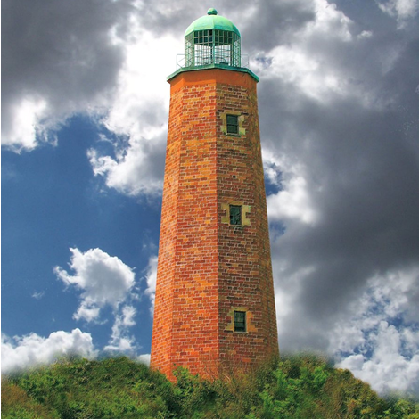 Virginia_Beach___Fort_Story_Lighthouse_-_1 fabric by beckyhayes on Spoonflower - custom fabric