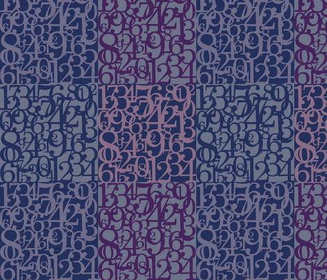NumbersUp-indigo-purple fabric by suzb on Spoonflower - custom fabric